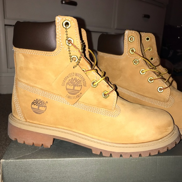 """TIMBERLAND BOOTS 6"""" WHEAT COLOR WITH BOX"""